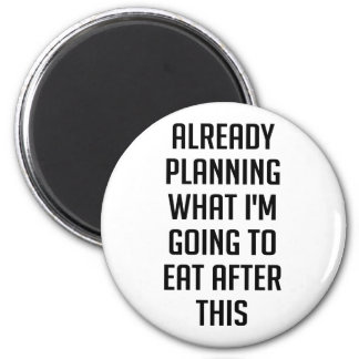 Planning What To Eat 2 Inch Round Magnet