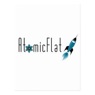 Plano atómico tarjeta postal