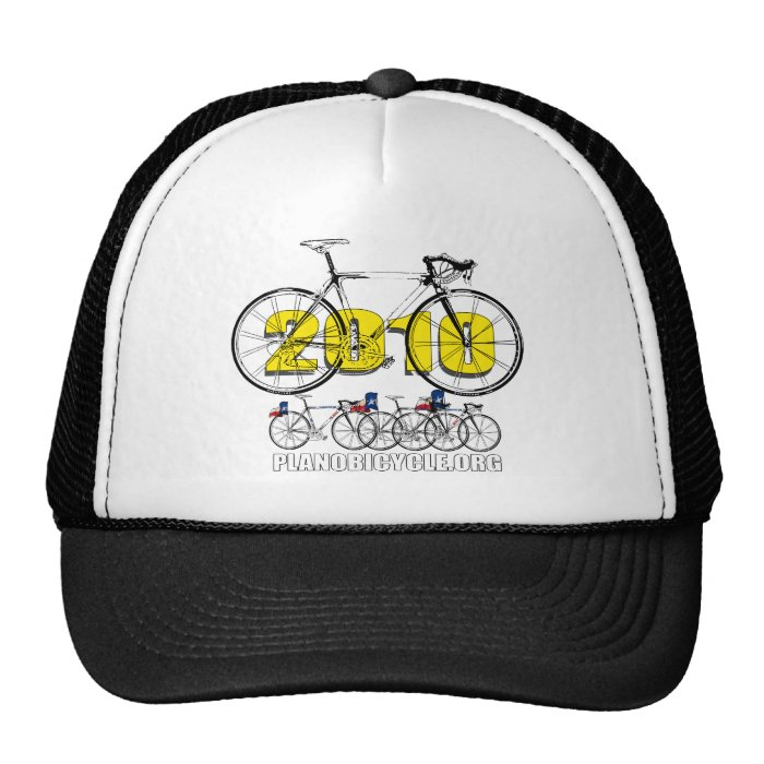 Plano Bicycle 2010 Cycling Logo Tees & Gifts Trucker Hat