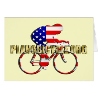Plano Bicycle American Patriot Cycling Logo Greeting Cards