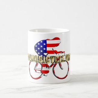 Plano Bicycle American Patriot Cycling Logo Coffee Mug