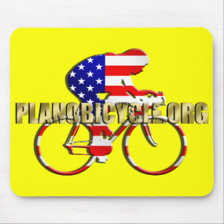 Plano Bicycle American Patriot Cycling Logo Mouse Pad