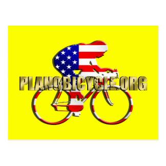 Plano Bicycle American Patriot Cycling Logo Post Card