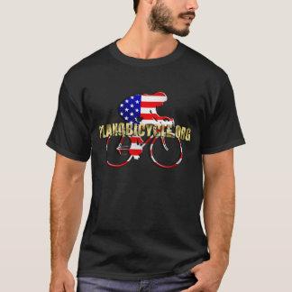 Plano Bicycle American Patriot Cycling Logo T-Shirt