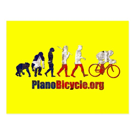 Plano Bicycle Association Evolution Artwork gifts Post Cards