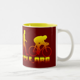 Plano Bicycle Association Firestarter Logo Two-Tone Coffee Mug