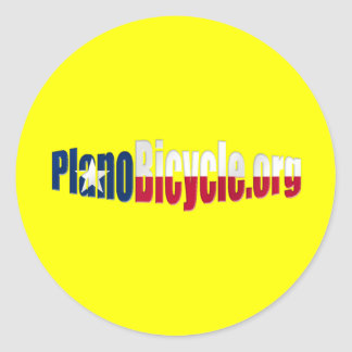 Plano Cycling Basic Texas flag logo Stickers
