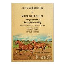 Plano Texas Wedding Invitation Horses