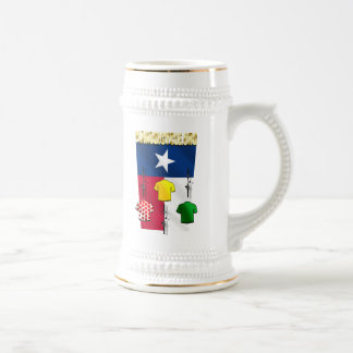 PlanoBicycle.Org Texas flag Cycling Gear 18 Oz Beer Stein