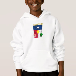 PlanoBicycle.Org Texas flag Cycling Gear Hoodie