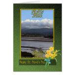Planos de fango del río de Conwy día de País de Tarjeta De Felicitación