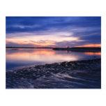 Planos de marea en la puesta del sol, playa de Sal Postales