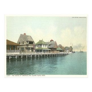 Planos Detroit Michigan de Sainte Claire del vinta Postales