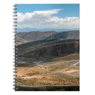 Planos serpentinos del camino y de la sal de Salta Note Book