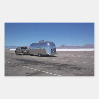 Planos Utah de la sal de Bonneville de la lata del Rectangular Pegatinas