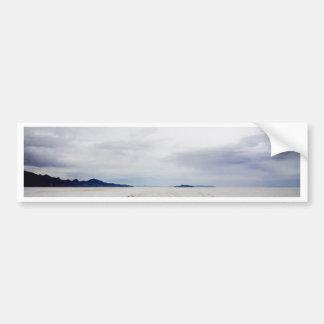 Planos y nubes de la sal pegatina para coche