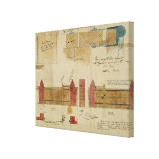 Plans and elevations for The Red House, Bexley Hea Canvas Print