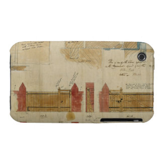 Plans and elevations for The Red House, Bexley Hea iPhone 3 Case
