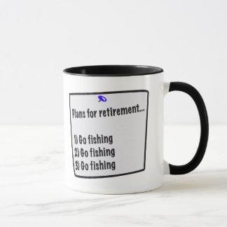 Plans for retirement (fishing) mug