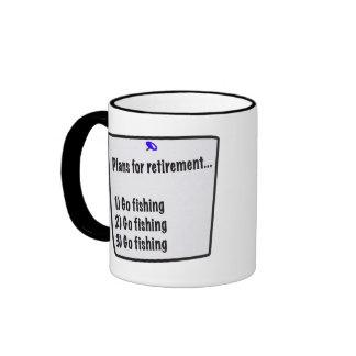 Plans for retirement (fishing) ringer coffee mug