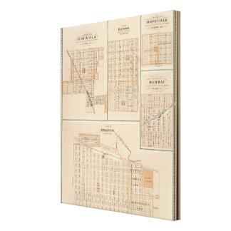 Plans of Atlantic, Osceola, Lewis Canvas Print