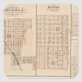 Plans of Atlantic, Osceola, Lewis Square Sticker