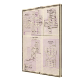Plans of Brooklyn, Grinnell Canvas Print