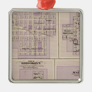 Plans of Brooklyn, Grinnell Metal Ornament