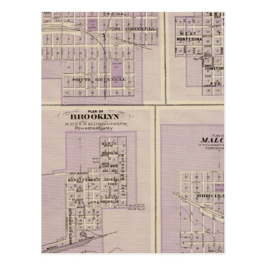 Plans of Brooklyn, Grinnell Postcard