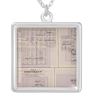 Plans of Brooklyn, Grinnell Square Pendant Necklace