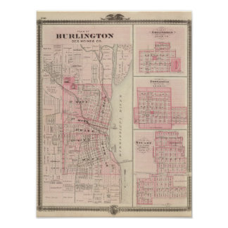 Plans of Burlington, Greenfield Poster