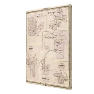 Plans of Cedar Falls 2 Canvas Print