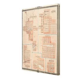Plans of Centerville, Leon, Moulton Canvas Print