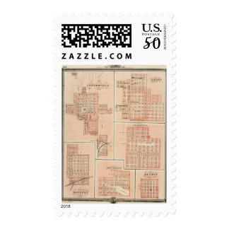 Plans of Centerville, Leon, Moulton Postage