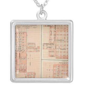 Plans of Centerville, Leon, Moulton Silver Plated Necklace