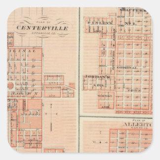 Plans of Centerville, Leon, Moulton Square Sticker