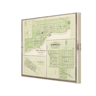 Plans of Fort Madison Canvas Print