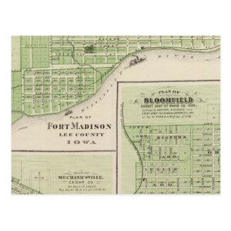 Plans of Fort Madison Postcard