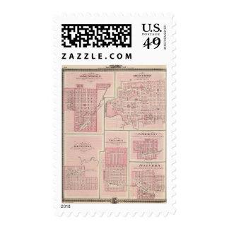 Plans of Glenwood, Denison, Hastings Stamp