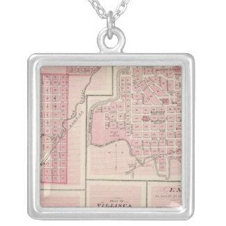 Plans of Glenwood, Denison, Hastings Square Pendant Necklace