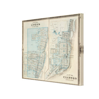 Plans of Lyons and Clinton, Clinton County Canvas Print