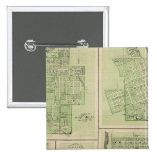 Plans of Maquoketa, Bellevue, Princeton 2 Inch Square Button