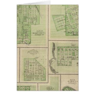 Plans of Maquoketa, Bellevue, Princeton Card