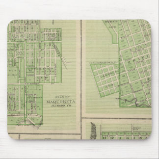 Plans of Maquoketa, Bellevue, Princeton Mousepads