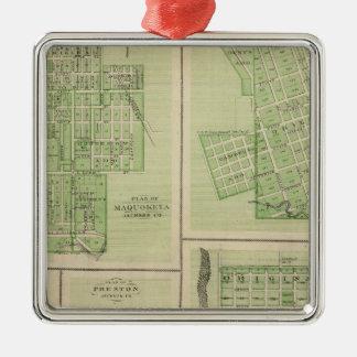 Plans of Maquoketa, Bellevue, Princeton Ornaments