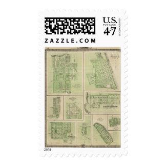 Plans of Maquoketa, Bellevue, Princeton Postage Stamp
