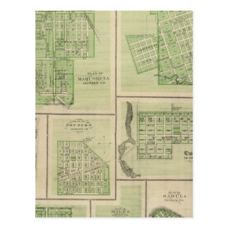 Plans of Maquoketa, Bellevue, Princeton Postcard