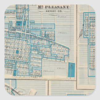 Plans of Mt Plessant, Toledo Square Sticker