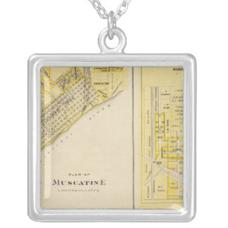 Plans of Muscatine, West Liberty Square Pendant Necklace
