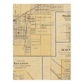 Plans of Newton, Prairie City Postcard